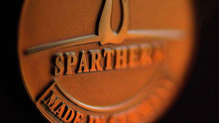 Spartherm Schriftzug auf Metall graviert