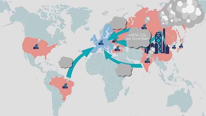 WV Stahl CO2 Landkarte